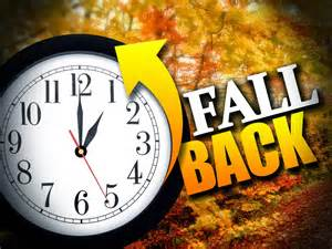 Daylights Savings time ends