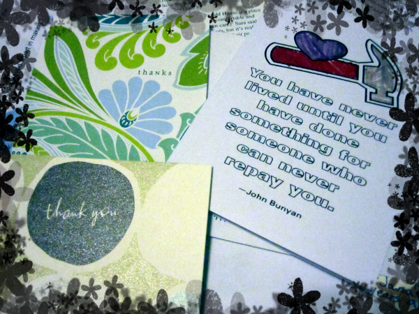 Mission and Outreach Thank You Cards and Letters